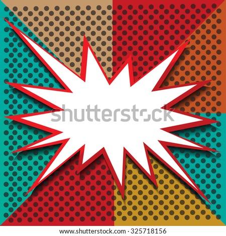 boom icon  background vector illustration - stock vector