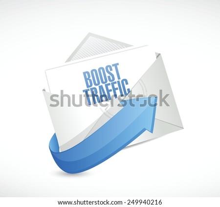 boost traffic envelope illustration design over a white background - stock vector