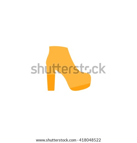 boot Simple flat vector icon - stock vector