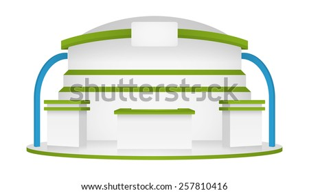 booth event display vector - stock vector