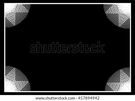 Border frame background - stock vector