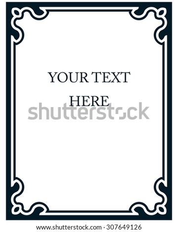 Border frame deco vector art simple line corner