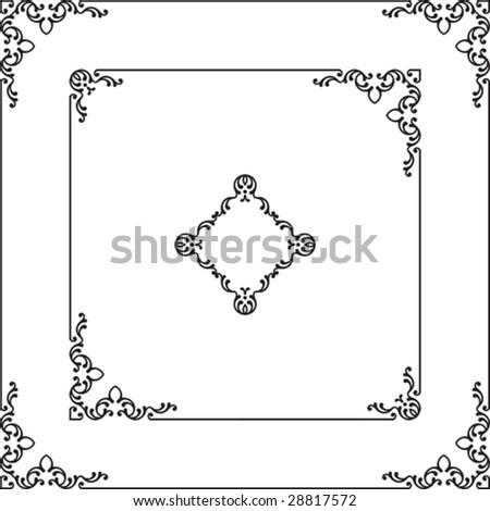 Border, Frame Design - stock vector