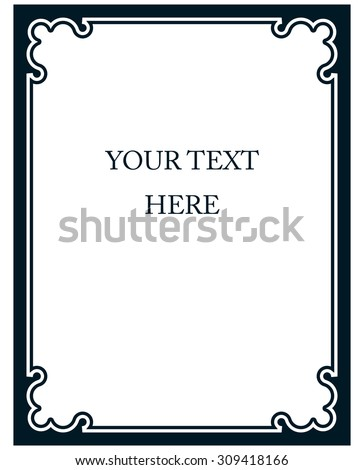 Border frame line deco vector label simple
