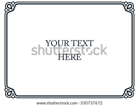 Border frame line deco vector label simple - stock vector