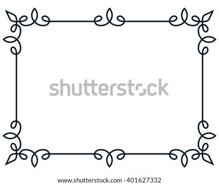 Border frame line deco vector label simple - stock vector