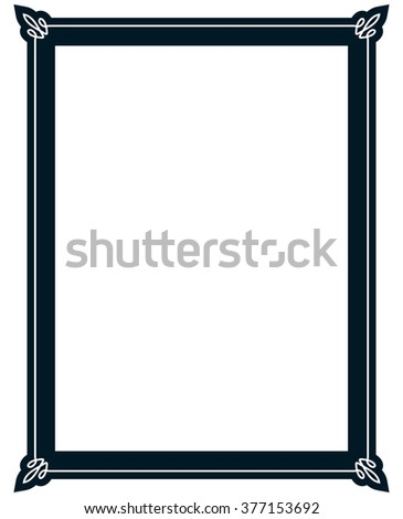 Border frame molding line deco vector label simple