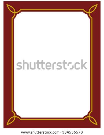 Border Frame Red Deco Plaque Vector Stock Vector 334536578 ...