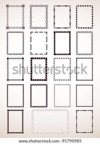 Border Frame Set. Vector - stock vector