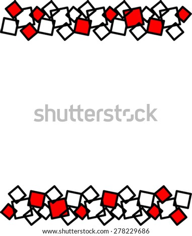 Border from squares - stock vector