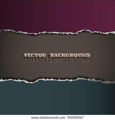 Border of torn paper. Vector eps10 - stock vector
