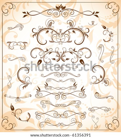 Borders - stock vector
