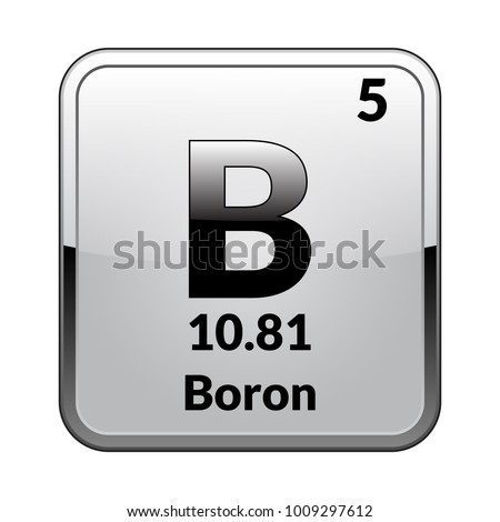 Boron Symbol Chemical Element Periodic Table On Stock Vector