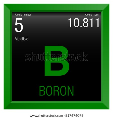 Boron Symbol Element Number 5 Periodic Stock Vector Royalty Free