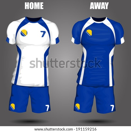 Bosnia and Herzegovina soccer jersey - stock vector