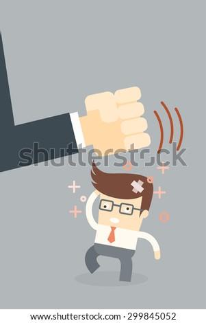 boss make crazy, stress concept - stock vector