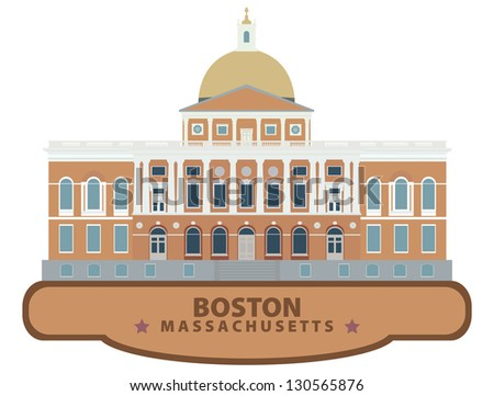 Boston - stock vector