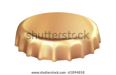 Bottle cap vector illustration. - stock vector