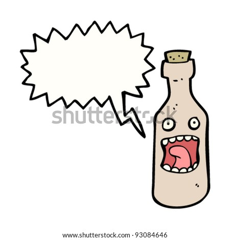 bottle cartoon - stock vector