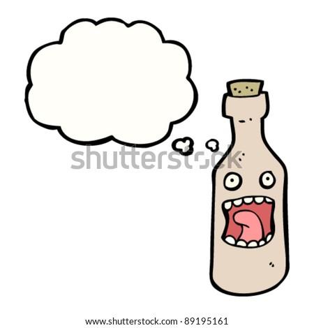 bottle cartoon character - stock vector