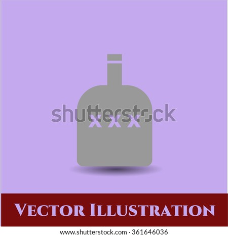 Bottle of alcohol icon vector illustration - stock vector