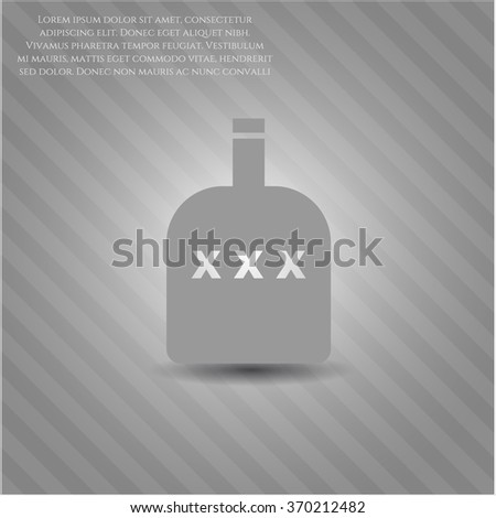 Bottle of alcohol vector symbol - stock vector
