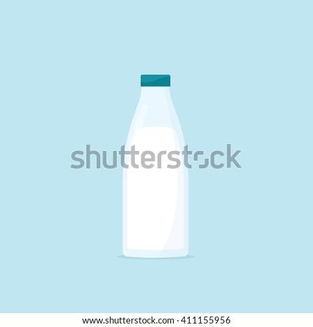 Bottle of milk - stock vector