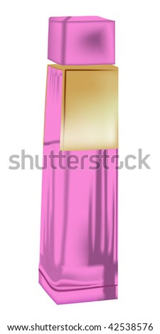bottle of perfume isolated on white - stock vector