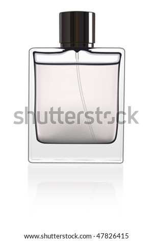 Bottle of perfume isolated over a white background. Vector image.