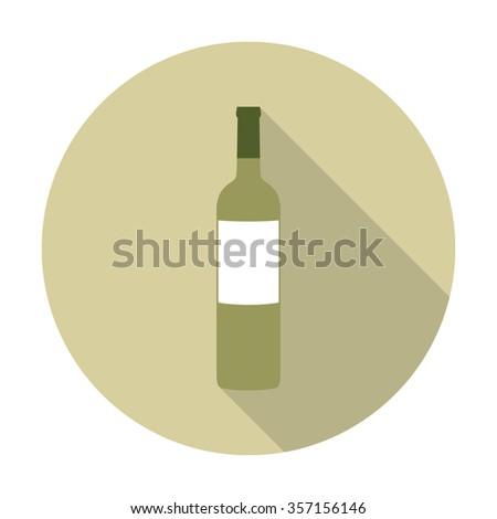 bottle of white wine icon. vector illustration - stock vector