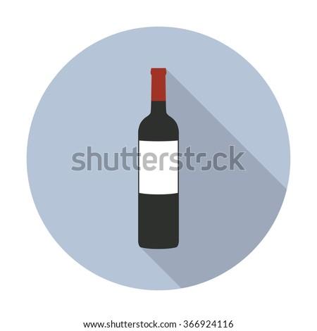 bottle of wine icon. vector illustration - stock vector