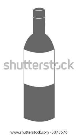 Bottle vector - stock vector