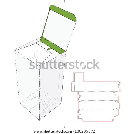 Bottle Vertical Tall Bottle with Die-cut Pattern - stock vector