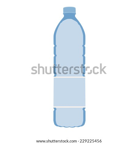 Bottle water, water bottle isolated, drinking water, bottle water vector - stock vector