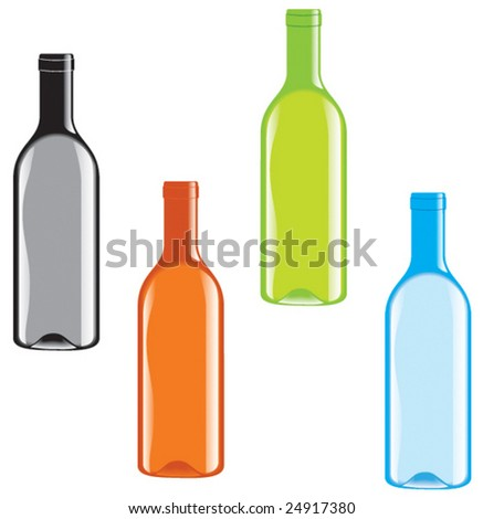 Bottles - stock vector