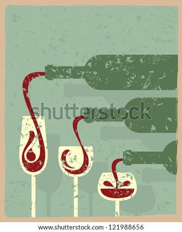 bottles and glasses - stock vector