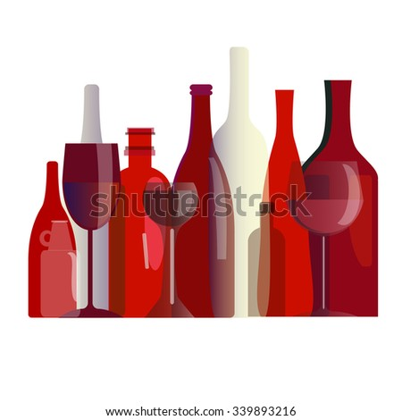 bottles bar glass