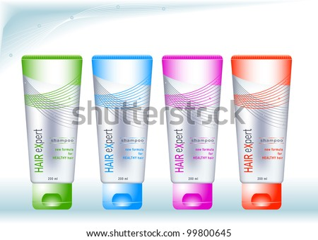 Bottles Sample Labels Cosmetics Health Care Stock Photo Photo