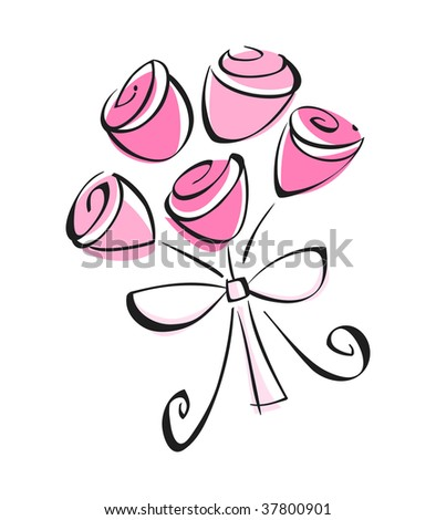 Bouquet - stock vector