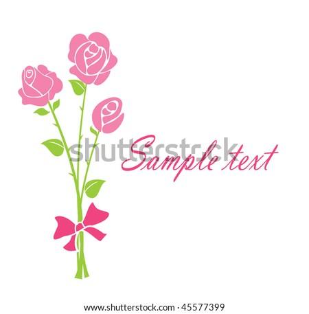 Bouquet - stock vector