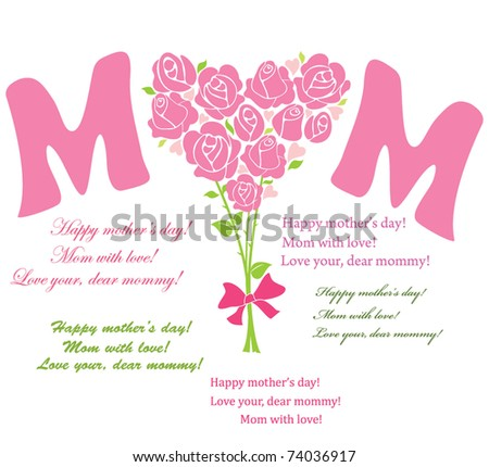 Bouquet for mom - stock vector