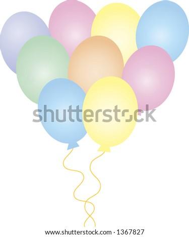 bouquet of balloons - stock vector