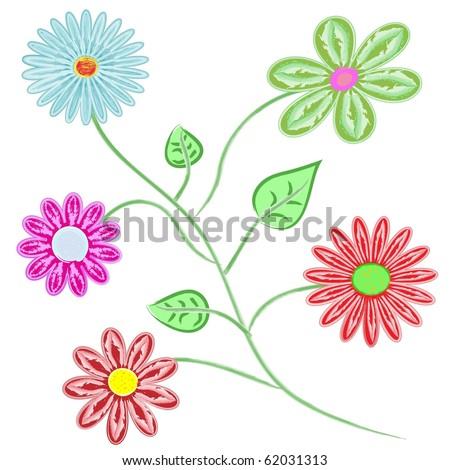 Bouquet of beautiful flowers - stock vector