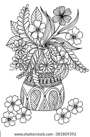 Flower Vase Outline Stock Vectors Amp Vector Clip Art