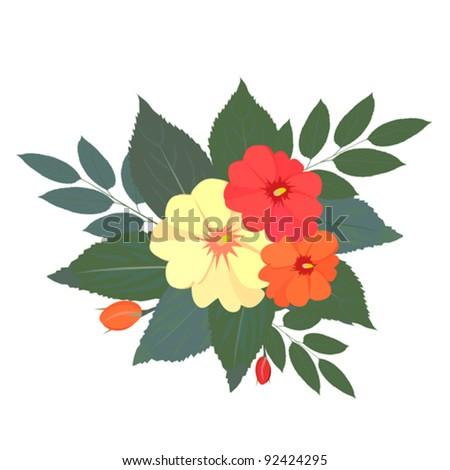 bouquet of flowers. Vector image. - stock vector