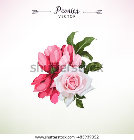 3d Render Digital Illustration Red Pink Illustration – Bday Card Invitation