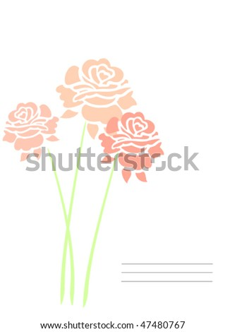Bouquet of roses - stock vector