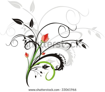 Bouquet. Ornament for design. Vector