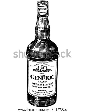 Bourbon Whiskey - Retro Clipart Illustration - stock vector