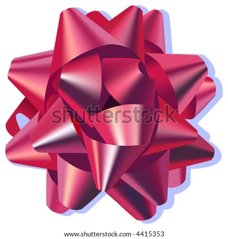 Bow Pink - stock vector
